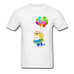 Long air baLLoons online shopping - 2018 Personalized Cartoon T Shirts For Student Air Colored Balloons Adventure Time Anime Movie T Shirt Mens Russia Larger Size