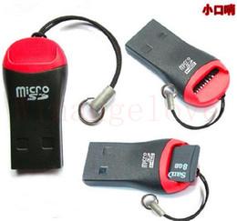 Whistle USB 2.0 T-Flash-geheugenkaartlezer TF-kaart Micro SD-kaartlezer Adapter 8GB 16 GB 32GB 64 GB