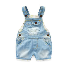 $enCountryForm.capitalKeyWord Australia - 2017 New Kids Denim Jumpsuit Summer Fashion Children Overalls Denim Pants Baby Boys Casual Children Jeans Pants DQ310