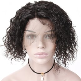 gluless human hair lace wig NZ - Gluless Bob Lace Front Wigs Human Hair Malaysian Curly Virgin Short Bob Human Hair Wigs With Baby Hair For Black Women Wavy Lace Wigs