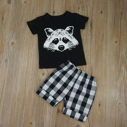 Discount baby fashion clothes - New fashion summer toddler infant baby boys printed T-shirt + striped shorts 2pcs set kids boy casual clothing outfits