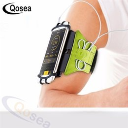 direct cases 2019 - Qosea Running Sports Armbands Direct Touch For 7 Plus X S9 Huawei P20 Pro Workout Universal Armlet Arm Band Case discoun