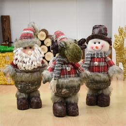 Zebra Christmas Gifts NZ - 3pcs lot Santa Claus+Snowman+Elk Christmas Dolls Ideal Christmas Gift for Family Lovers Friends Xmas Decoration Enfeite De Natal