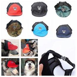 292512ccd33 Large basebaLL caps online shopping - 6styles Dog Baseball Cap visor hat  Summer Breathable Pet Beach