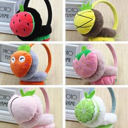 $enCountryForm.capitalKeyWord Canada - Boys and Girls Winter Warm Lovely Cartoon Plush Children adults Earmuffs Ear Fruit Series Watermelon Strawberry Thick Kids Ear Muffs T2C063