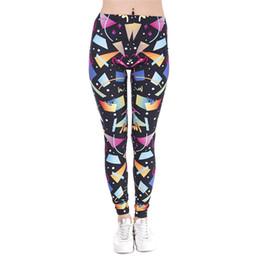 $enCountryForm.capitalKeyWord Australia - Girl Leggings Retro Geometric Figure 3D Graphic Digital Print Women Skinny Stretchy Yoga Pants Lady Fitness Pencil Fit Trousers (GL42429)