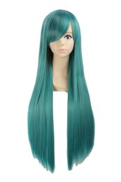 $enCountryForm.capitalKeyWord UK - Unisex 80cm Various Color General Anime Cosplay Costume Party Halloween Natural Full Wig Long Straight 31 Inches (Dark Green)