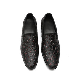 sexy wedding dresses men NZ - 2018 New Style Men Casual Leather Shoes Fashion Slip-On Business Office Oxfords Sexy Rivet Formal Dress Wedding Shoes S390