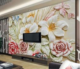 $enCountryForm.capitalKeyWord NZ - wallpaper for kids room European relief flower TV background wall beautiful scenery wallpapers