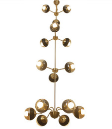 Lighting Luminaries online shopping - Regron Luxury Vintage Chandelier Lights Led Brass Chandeliers Lustres Retro Modern Industrial Suspension Luminary For Living Room Villa