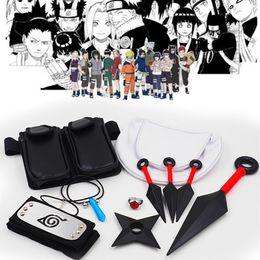 $enCountryForm.capitalKeyWord NZ - Hot Japan Anime Naruto Hokage Ninjia Halloween Unisex Cosplay Plastic Prop Accessories Toy Gift Full Set