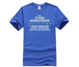 Diy Tees NZ - DIY style mens t shirts Fashion T Shirt Summer Famous Clothing Geek System Administrator Tee Shirt custom