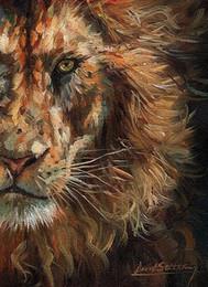 $enCountryForm.capitalKeyWord Australia - Artwork-lion-face-Unframed Modern Canvas Wall Art for Home and Office Decoration,Oil Painting ,Animal painatings ,frame.