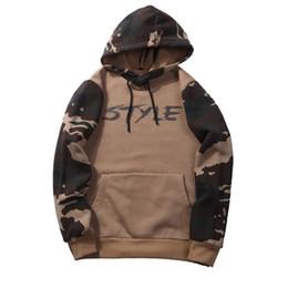 a7e60da474a Camo hoodie sweatshirt online shopping - 2018 New Mens Camo Sweatshirt Euro  Size Hoodies STYLE Letter