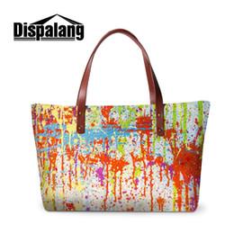graffiti handbags 2019 - Dispalang Graffiti Printed Women Handbags Ladies Shoulder Bag Large Capacity Female Shopping Bag Summer Beach cheap graf