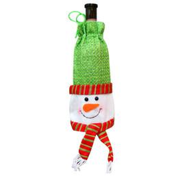 $enCountryForm.capitalKeyWord Australia - chrismas decoration Natal decoracao HJW Red Wine Bottle Cover Bags Decoration Home Party Santa Claus Christmas