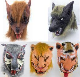 $enCountryForm.capitalKeyWord Australia - Halloween Mask Latex Wolf Head Full Face Masks Scary Animal Headgear Theater Prank Props Halloween Cosplay Costume Lion Tiger Wolf YW1522