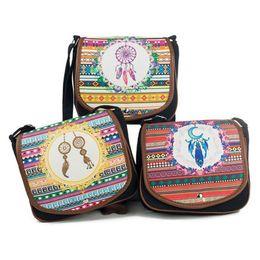 $enCountryForm.capitalKeyWord Australia - Ethnic Style Striped Ladies Shoulder Bag Canvas Messenger Crossbody Hand Bags For Women Girls Mini Mobile Phone Cute Bag Handbag