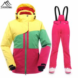 Winter Snow Suits Australia - SAENSHING Women's ski suit Girls Snow Jacket Thicken Warm Waterproof Winter Suit Female Outdoor Skiing And Snowboarding Suits