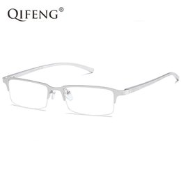 myopia glasses male eyeglasses frame 2018 - QIFENG Spectacle Frame Eyeglasses Men Computer Optical Myopia Eye Glasses AL-MG Frame For Male Transparent Clear Lens QF