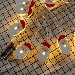 snowman boxes NZ - Edison2011 2018 Christmas Led Strings Dry Battery Box Lighting String Christmas Cartoon Strings Painted Santa Claus Elk Snowman LED String