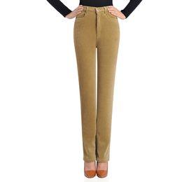 8d7b2c432f9 Straight High Waist Suede Pants Women Plus Palazzo Pant Warm Winter Velvet  Broeken Waist Loose Woman Trousers Summer KC7F173