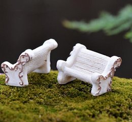 $enCountryForm.capitalKeyWord NZ - White Chair Miniature figures decorative mini fairy garden animal statue Home Desktop Gift Moss ornaments resin craft
