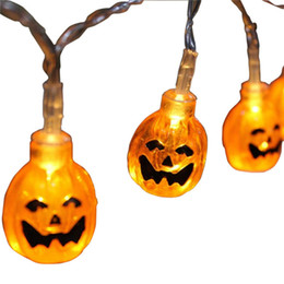 $enCountryForm.capitalKeyWord UK - Halloween Acrylic Pumpkins Led String Light Holiday Party Layout Garland Outdoor&Indoor Decoration Orange Pumpkin Battery Light Strings
