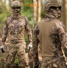 combat camo shirt 2019 - Camouflage T-shirt new Men Breathable Army Tactical Combat T Shirt Dry Camo Camp Tees For discount combat camo shirt