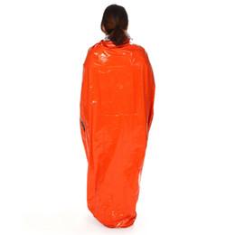 $enCountryForm.capitalKeyWord Australia - Outdoor Sleeping Bags Portable Emergency Sleeping Bags Light-weight Polyethylene Sleeping Bag for Camping Travel Hiking