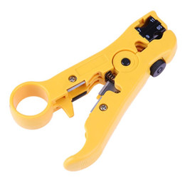 round mouth multifunction coaxial cable stripper clamp crimping plier for  rg69 6 11 7 telephone flat wire line network tools
