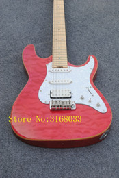 pictures personal Australia - free shipping Personal Tailor red Electric guitar Rosewood Fingerboard white guard plate Can send pictures customization