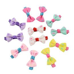 $enCountryForm.capitalKeyWord Australia - 45 color printing ribbon bag hot models rib waist bowknot Barrette Hair Accessories hairpin children