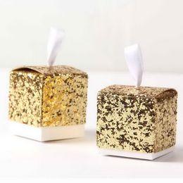 $enCountryForm.capitalKeyWord NZ - European Glitter Box Wedding Party Gift Favors Box Festive Party Wrapping Supplies Wedding Candy Box Gold Silver Glitter