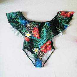 $enCountryForm.capitalKeyWord Canada - Off Shoulder Swimwear Women Beachwear 2018 Vintage Print Monokini Bathing Suit Women Ruffles Flouncing Swim Wear Woman One Piece Swimsuit