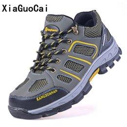7dd367fd76 2018 Novos homens Plus Size Ao Ar Livre Tampão Do Dedo Do Aço Botas de  Segurança de Trabalho Militar Sapatos Homens Camuflagem Exército Punção À  Prova de ...