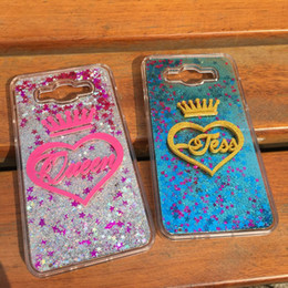 China For iphone 5 5s se 6 6s 7 8 plus X Luxury Thailand Exclusive Customize Name King Name Heart liquid glitter case suppliers