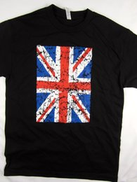Wholesale New British England flag vintage style tee shirt men s black Choose A Size Print Fitness T Shirt Men Classic Casual T Shirt Summer T shirt