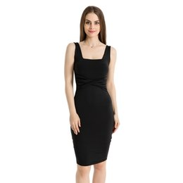 China Vetement femme 2018 Best Selling Sexy Women Dress Casual Sleeveless Pleated Evening Party Bodycon Dresses vestidos de festa cheap best selling cap sleeve evening dresses suppliers