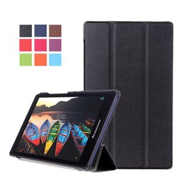 "lenovo tablets case Australia - Slim Tri-Folding Ultra Magnetic Stand Tablet Case For Lenovo TAB3 8 TAB2 A8-50 8"" Smart Fashion PU Leather Cover +Pen"
