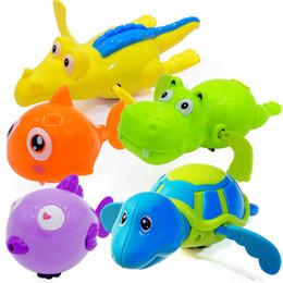 Black Swimming Toys Australia - Children's creative cartoon wind-up swimming hippo bath baby shower toy wholesale
