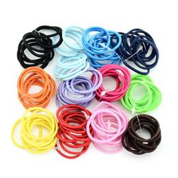 Опт 3 см 12 цветов высокое качество бутик Лента эластичный волос галстук веревка волос группа DIY ручной Луки аксессуары для волос для девочек детей 694