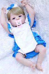 boneca toys 2019 - NPK Soft Silicone Reborn Baby Doll Girl Toys Pretty Lifelike live Babies Boneca VInyl Dolls Bebe Reborn Menina 55cm for