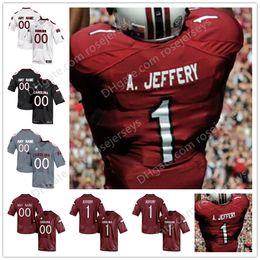 South Carolina Gamecocks  1 Alshon Jeffery 14 Deshaun Fenwick 7 Jamarcus  King 21 Jamyest Williams Black Red White College football Jersey e47cd2743