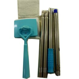 Fabric clamps online shopping - Baseboard Buddy Cleaning Mop Extensible Handle Plastic Clean Swabber Household Cleanings Products Factory Direct Sale hl X
