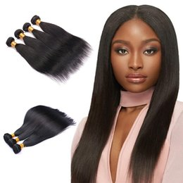 $enCountryForm.capitalKeyWord UK - Brazilian Straight Hair 100% Unprocessed Virgin Human Hair Bundles 7A Grade Brazilian Hair Weave Bundles Natural Black