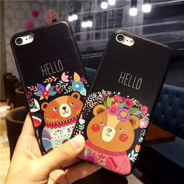 $enCountryForm.capitalKeyWord Australia - YunRT Cute Lovers Hello Bear Silicone Full Body Case for iPhone 7 6 6s 5 5s Case soft TPU Phone Cases Back Cover for 7 6 Plus Coque