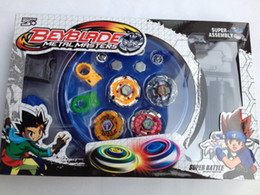 Beyblade Launcher Free Australia - Free shipping beyblade set(4 beyblades+2 launchers+4 tips+2 bolts +1grip+1arena)beyblade with arena as children gift