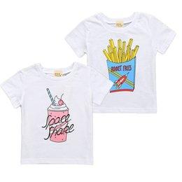 d01824c9a Baby Clothes Summer Baby Boys and Girls T-shirt INS Classic White  Short-sleeved T-shirts Fries Ice cream Printed Cotton Children Kids Tees 2