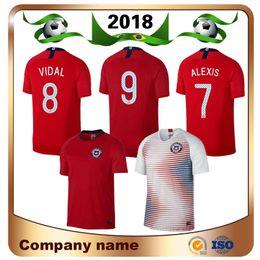 Chile jerseys online shopping - 2018 Chile Soccer Jersey Alexis Vidal Home Away Short sleeve Soccer Shirt ALEXIS VIDAL VALDIVIA MEDEL Football uniforms
